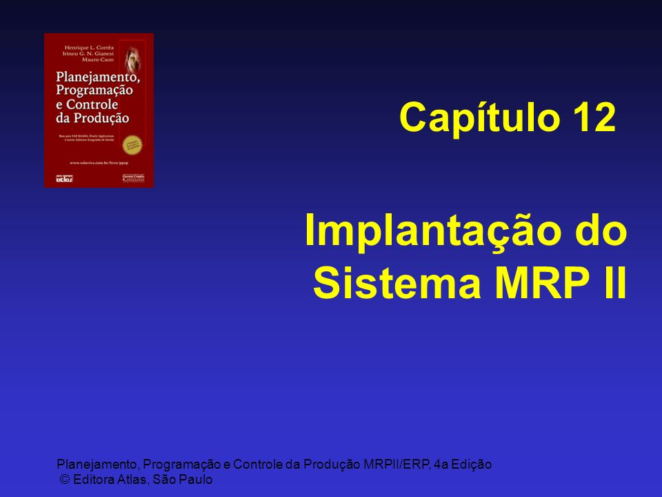 Implantação do Sistema MRP II