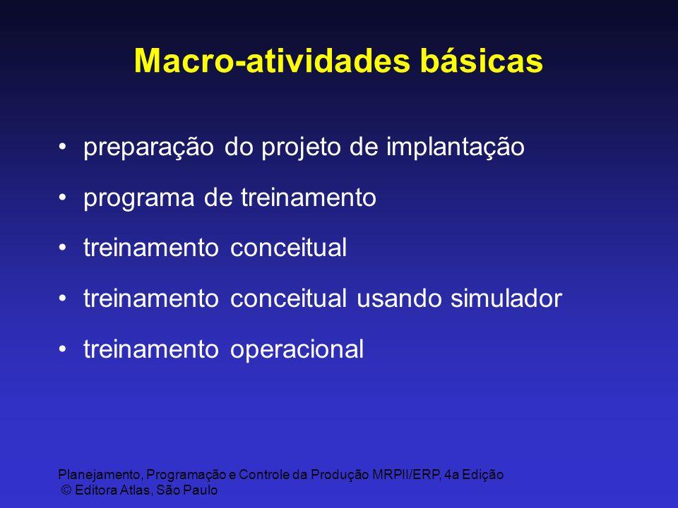 Macro-atividades básicas