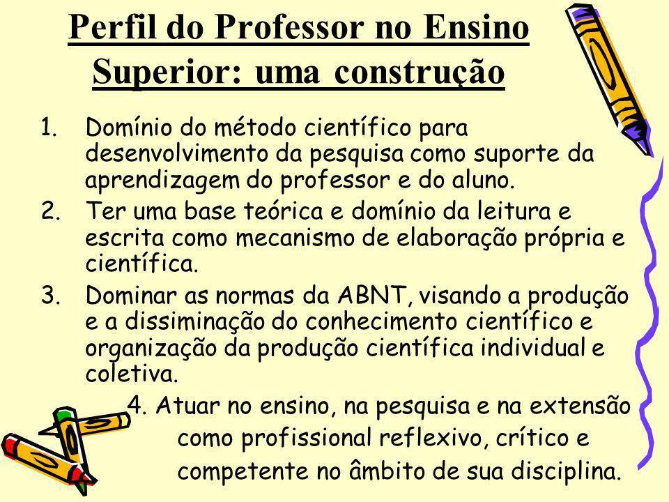 Perfil do Professor no Ensino Superior: uma construção