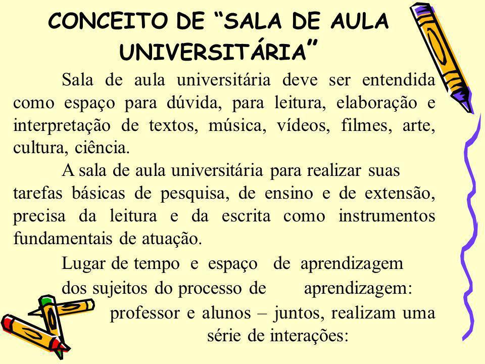 CONCEITO DE SALA DE AULA UNIVERSITÁRIA