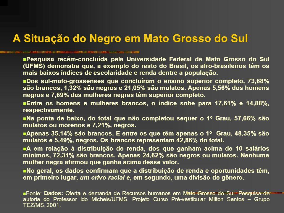 A Situação do Negro em Mato Grosso do Sul