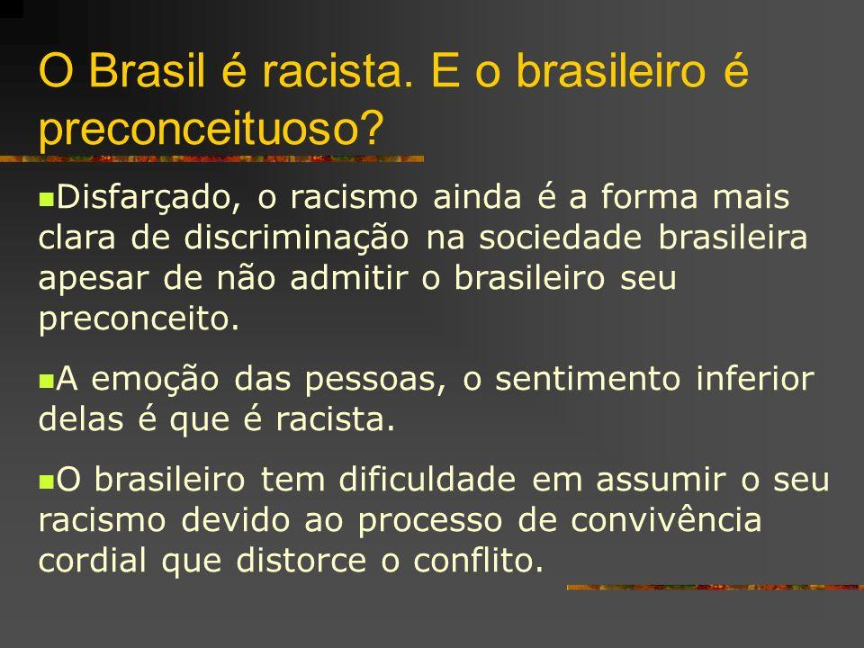 O Brasil é racista. E o brasileiro é preconceituoso