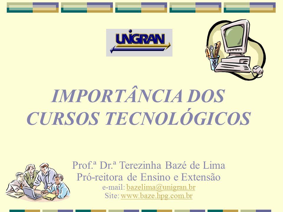 IMPORTÂNCIA DOS CURSOS TECNOLÓGICOS