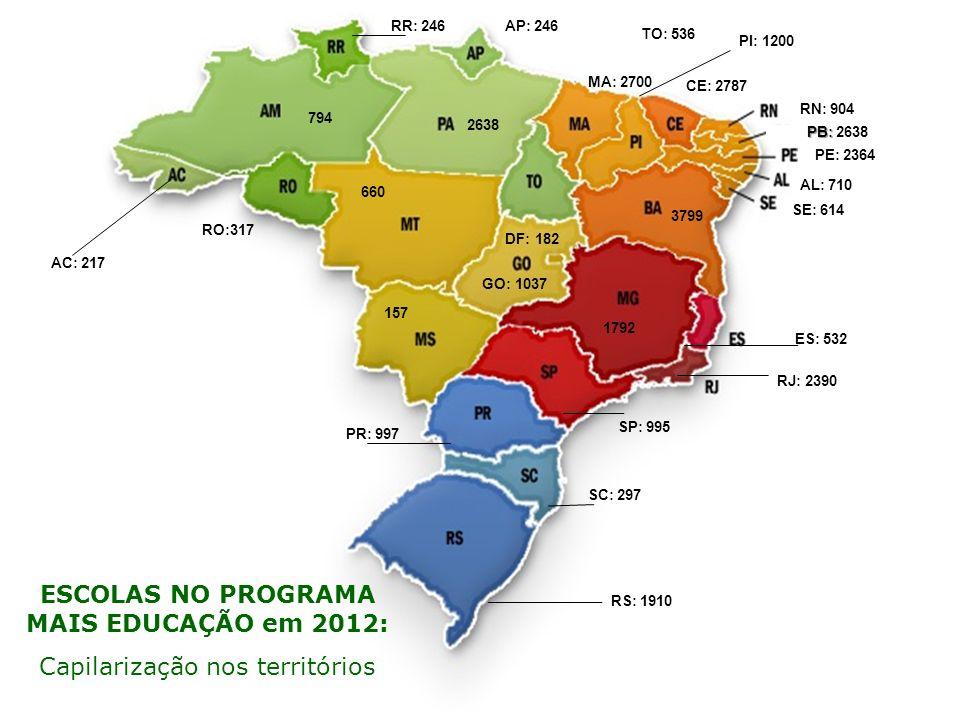ESCOLAS NO PROGRAMA MAIS EDUCAÇÃO em 2012:
