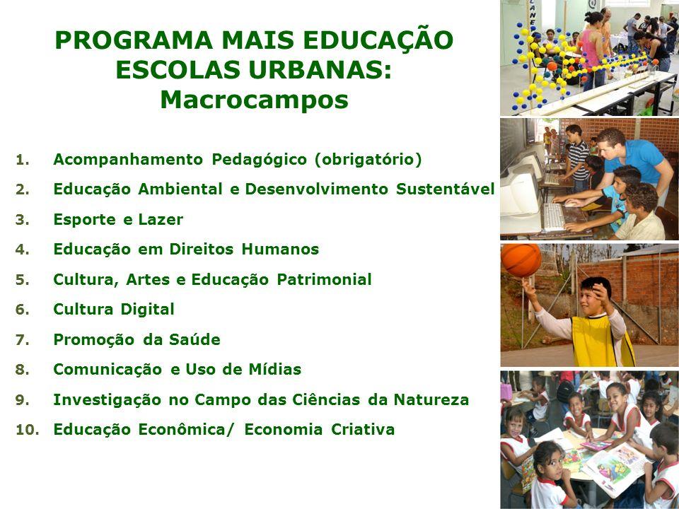 PROGRAMA MAIS EDUCAÇÃO ESCOLAS URBANAS: Macrocampos