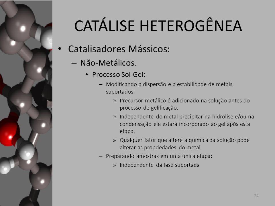 CATÁLISE HETEROGÊNEA Catalisadores Mássicos: Não-Metálicos.