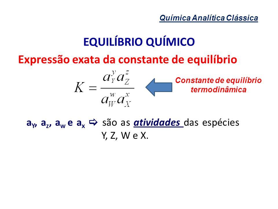 Constante de equilíbrio termodinâmica