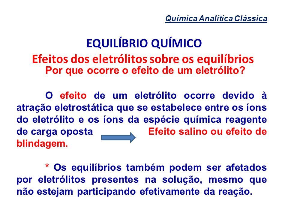 Efeitos dos eletrólitos sobre os equilíbrios