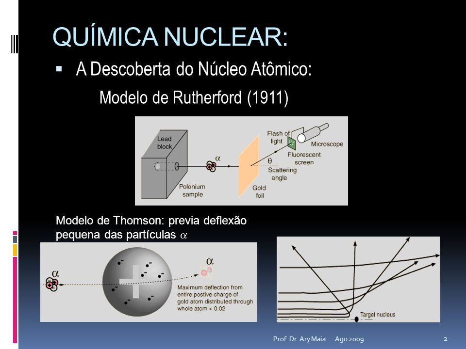 QUÍMICA NUCLEAR: A Descoberta do Núcleo Atômico: