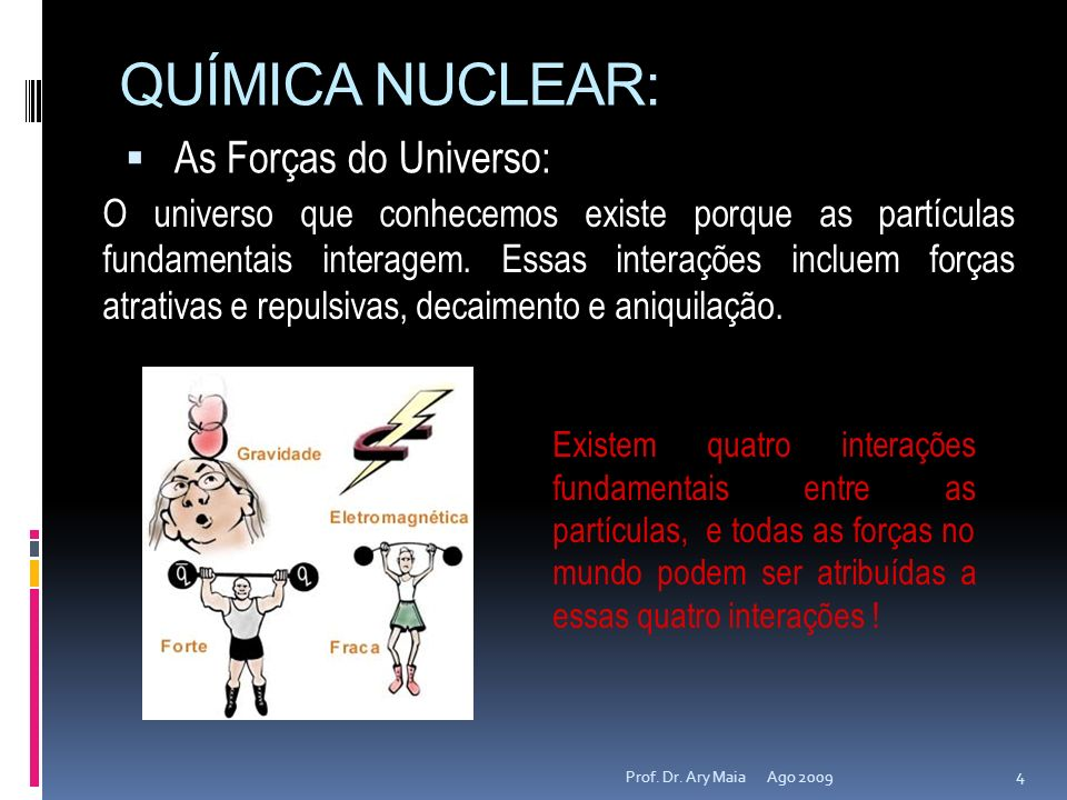 QUÍMICA NUCLEAR: As Forças do Universo: