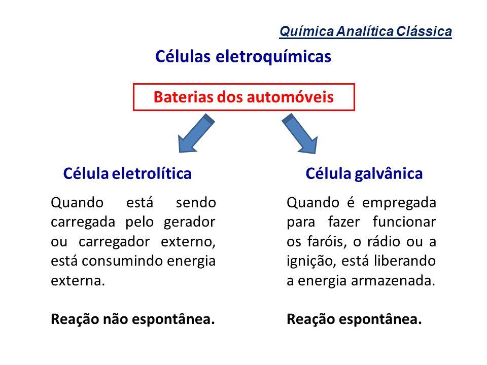 Células eletroquímicas Baterias dos automóveis