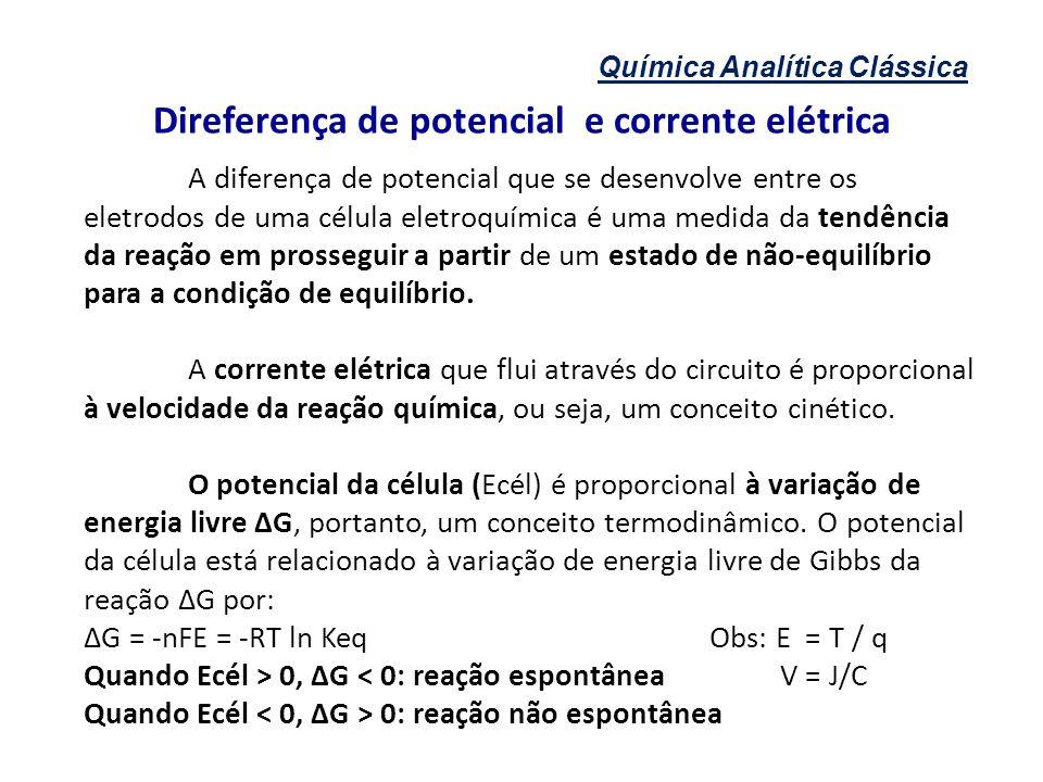 Direferença de potencial e corrente elétrica