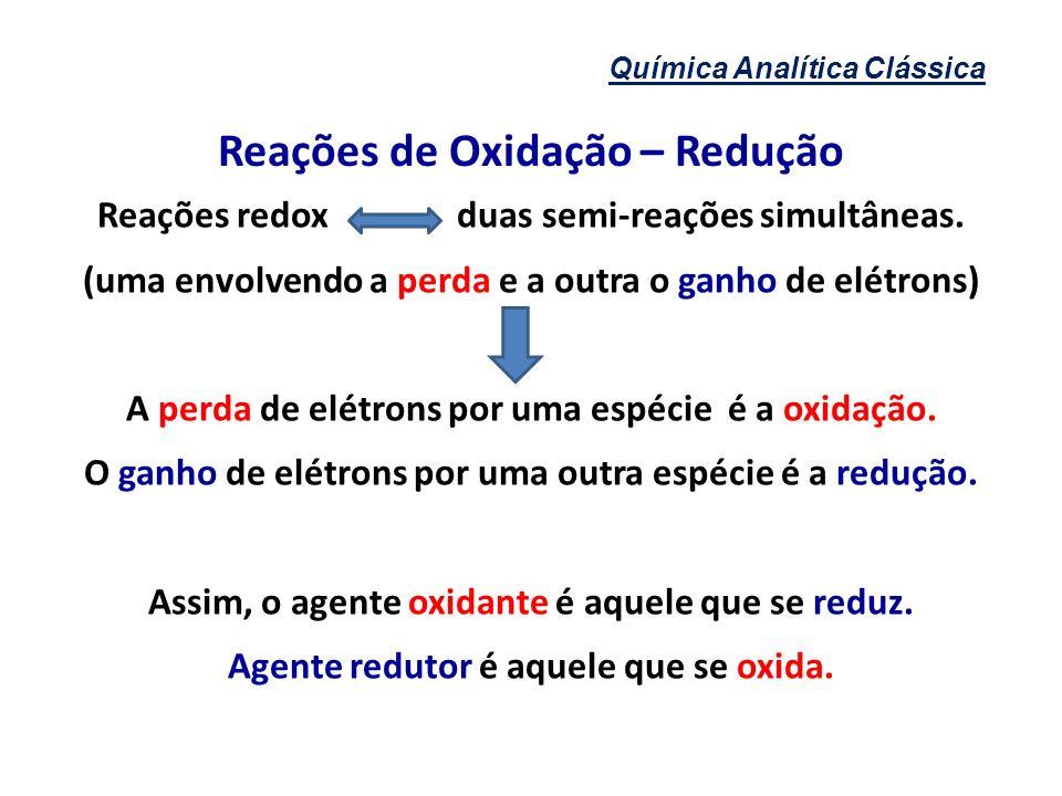 Reações de Oxidação – Redução