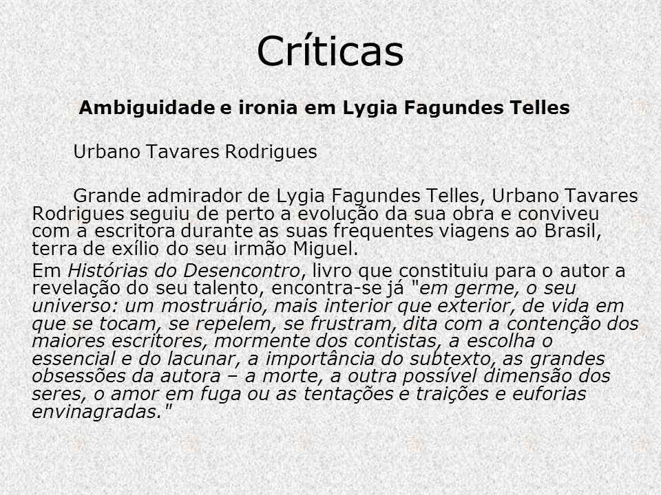 Ambiguidade e ironia em Lygia Fagundes Telles