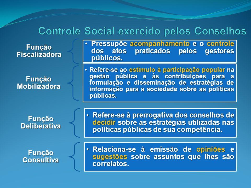 Controle Social exercido pelos Conselhos