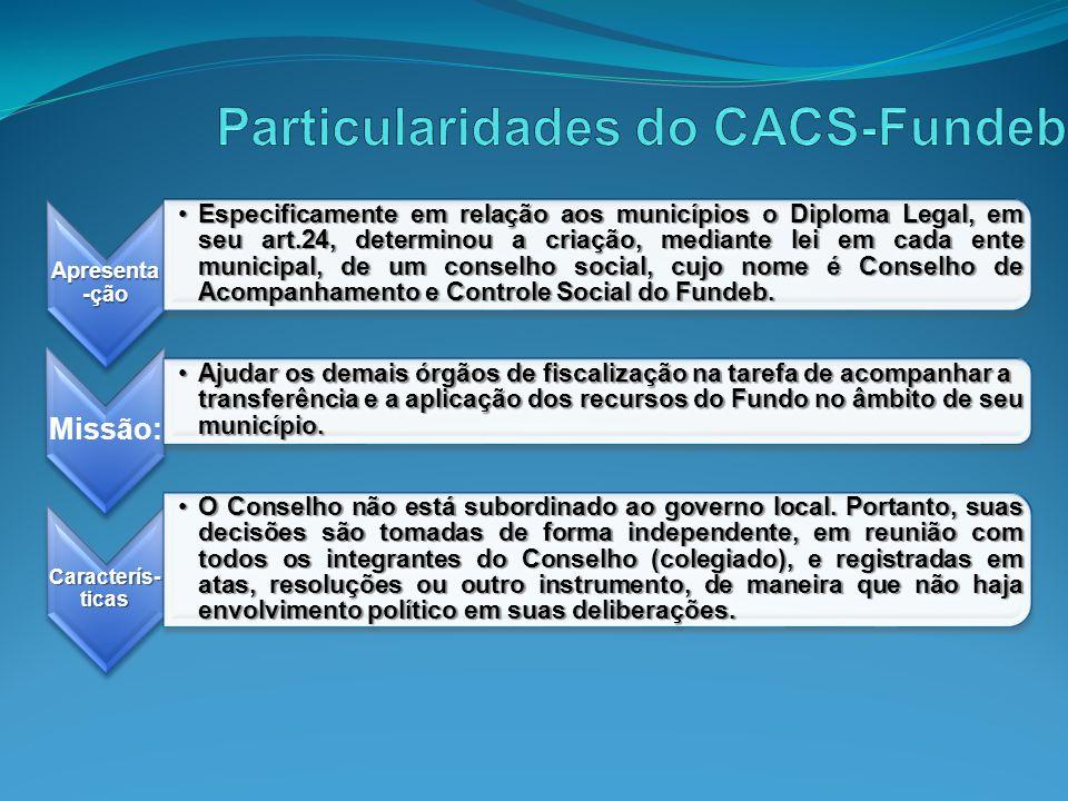Particularidades do CACS-Fundeb