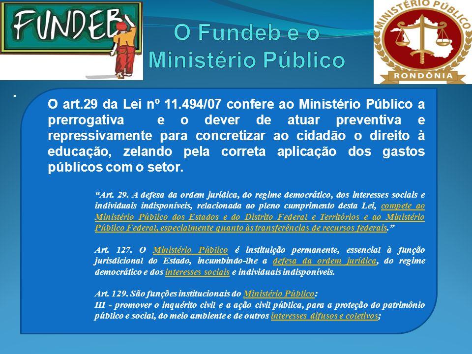O Fundeb e o Ministério Público
