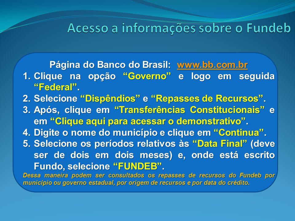 Acesso a informações sobre o Fundeb