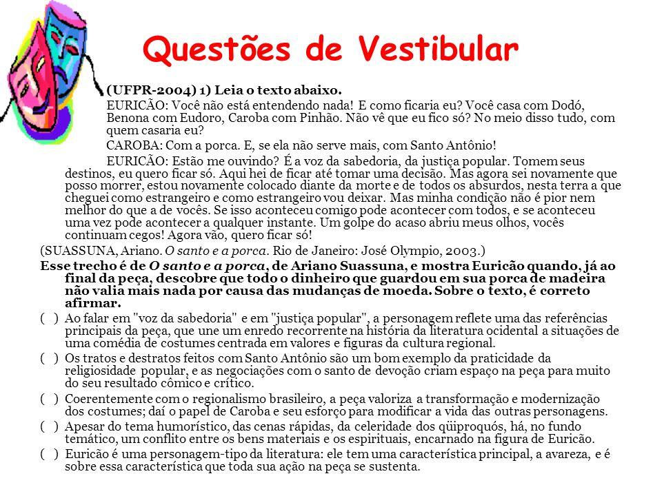 Questões de Vestibular