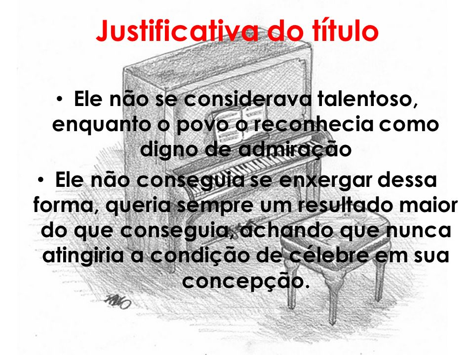 Justificativa do título