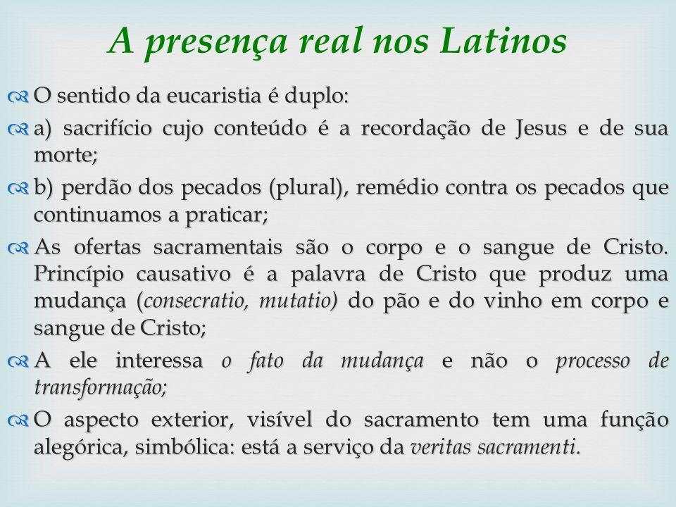 A presença real nos Latinos
