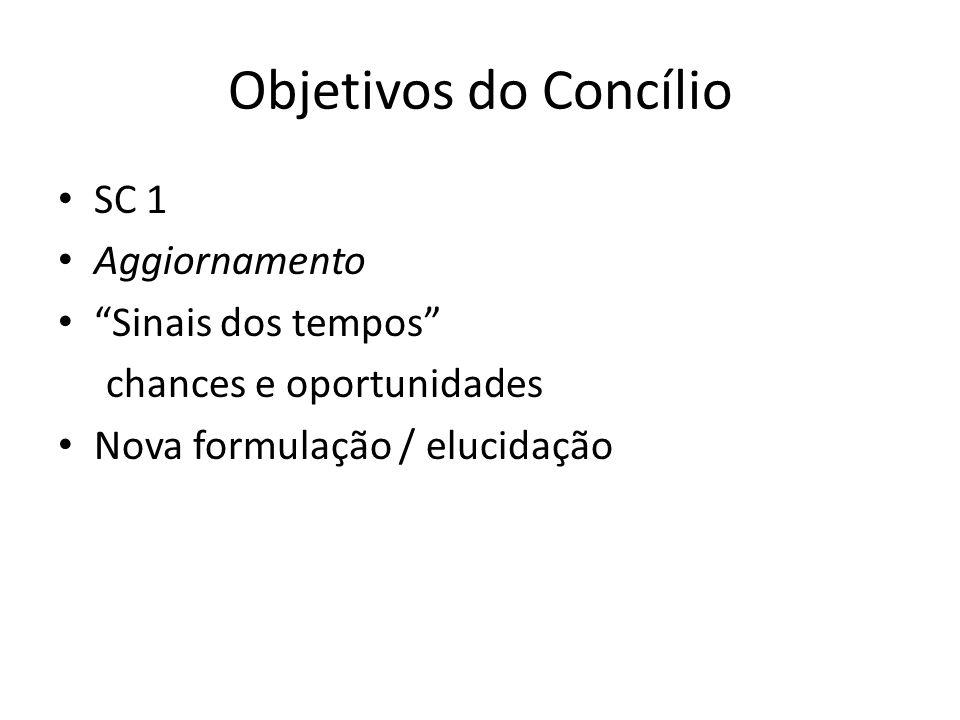 Objetivos do Concílio SC 1 Aggiornamento Sinais dos tempos