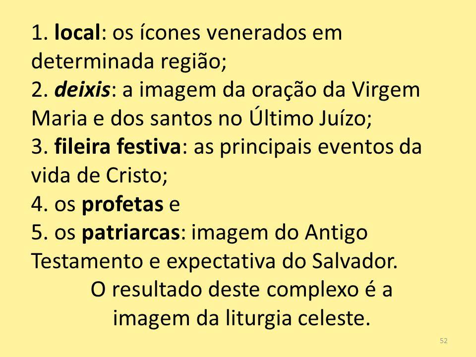O resultado deste complexo é a imagem da liturgia celeste.