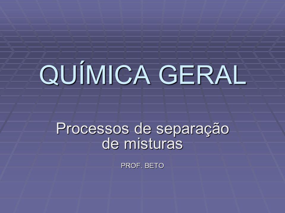 Processos de separação de misturas PROF. BETO