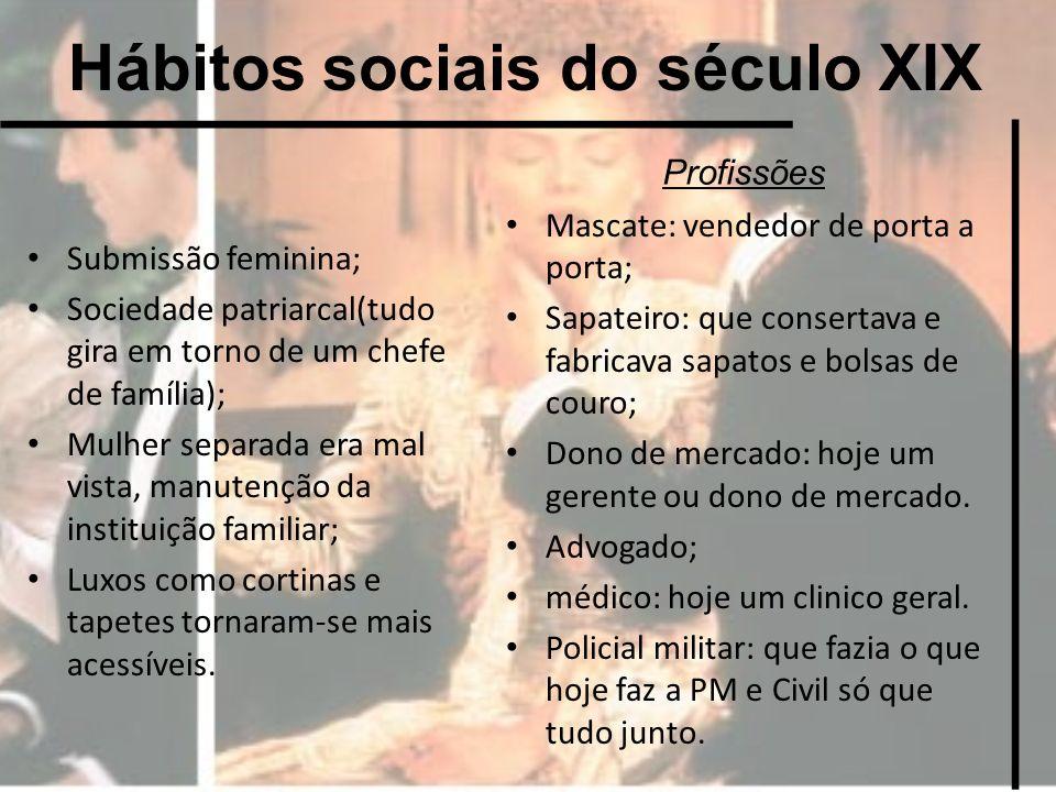 Hábitos sociais do século XIX