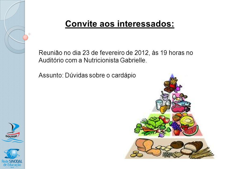Convite aos interessados: