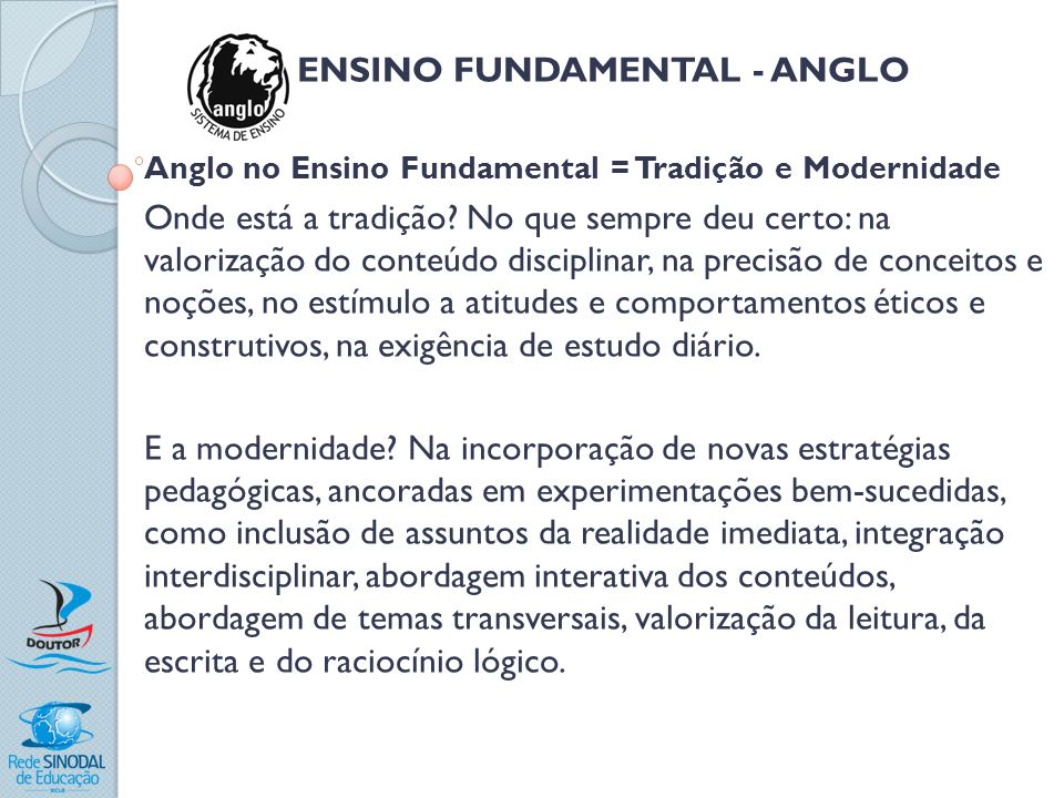 ENSINO FUNDAMENTAL - ANGLO