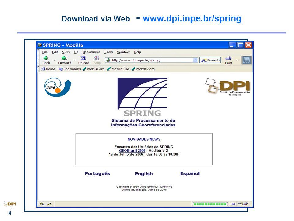 Download via Web - www.dpi.inpe.br/spring