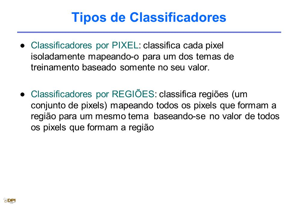 Tipos de Classificadores