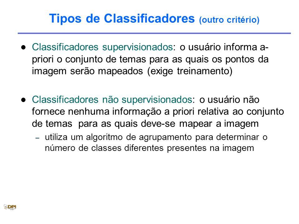 Tipos de Classificadores (outro critério)