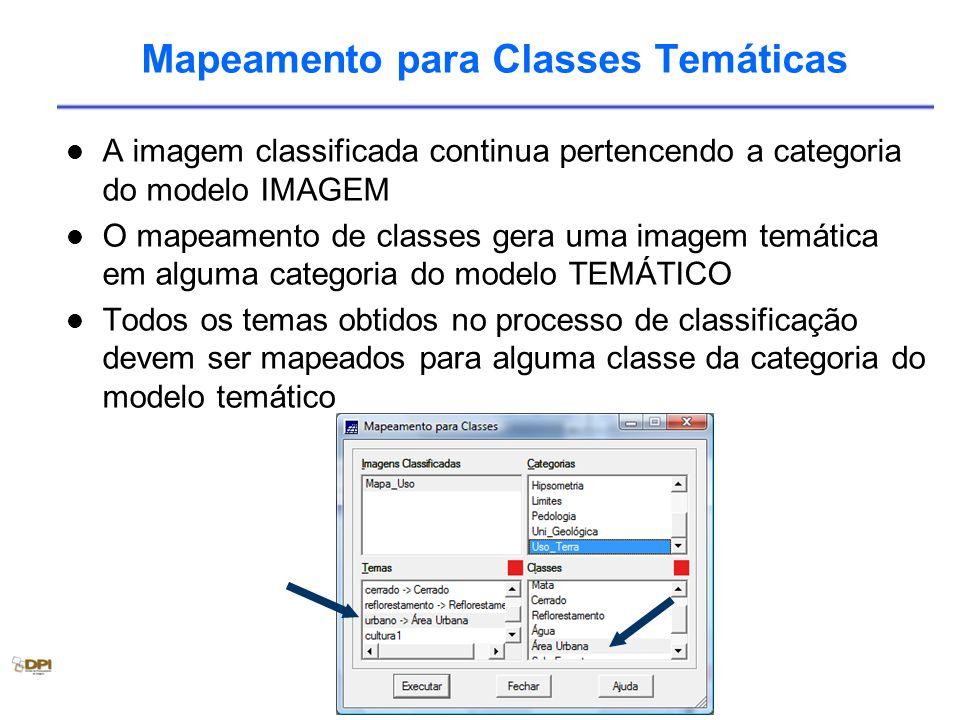Mapeamento para Classes Temáticas