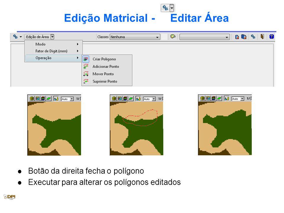 Edição Matricial - Editar Área