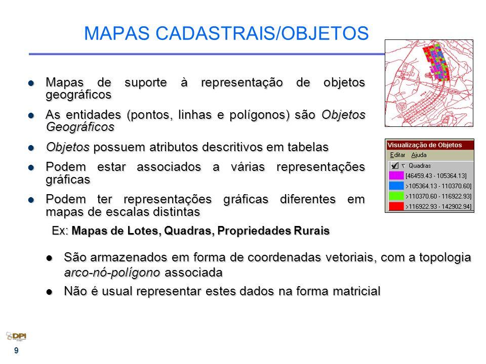 MAPAS CADASTRAIS/OBJETOS