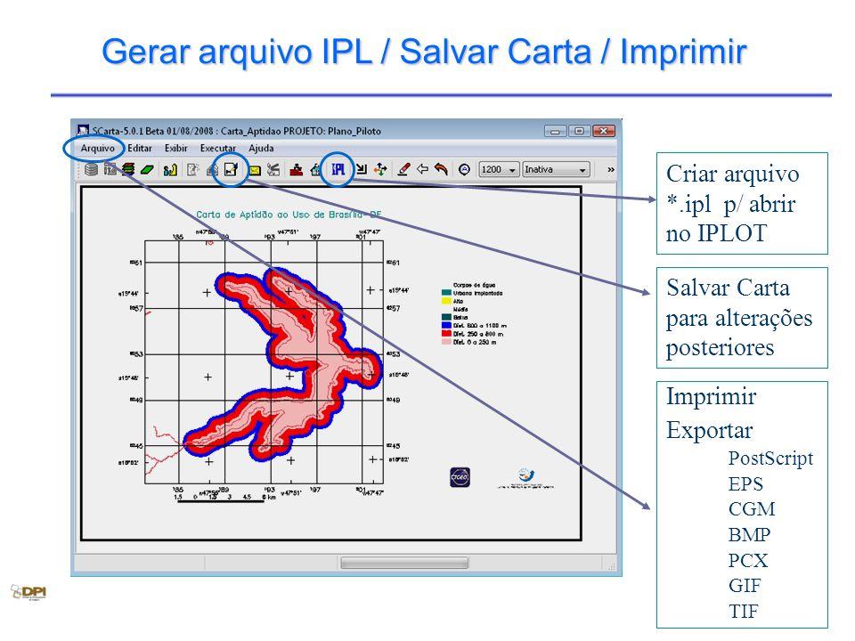 Gerar arquivo IPL / Salvar Carta / Imprimir