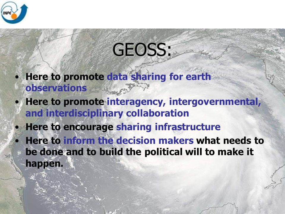GEOSS: Here to promote data sharing for earth observations