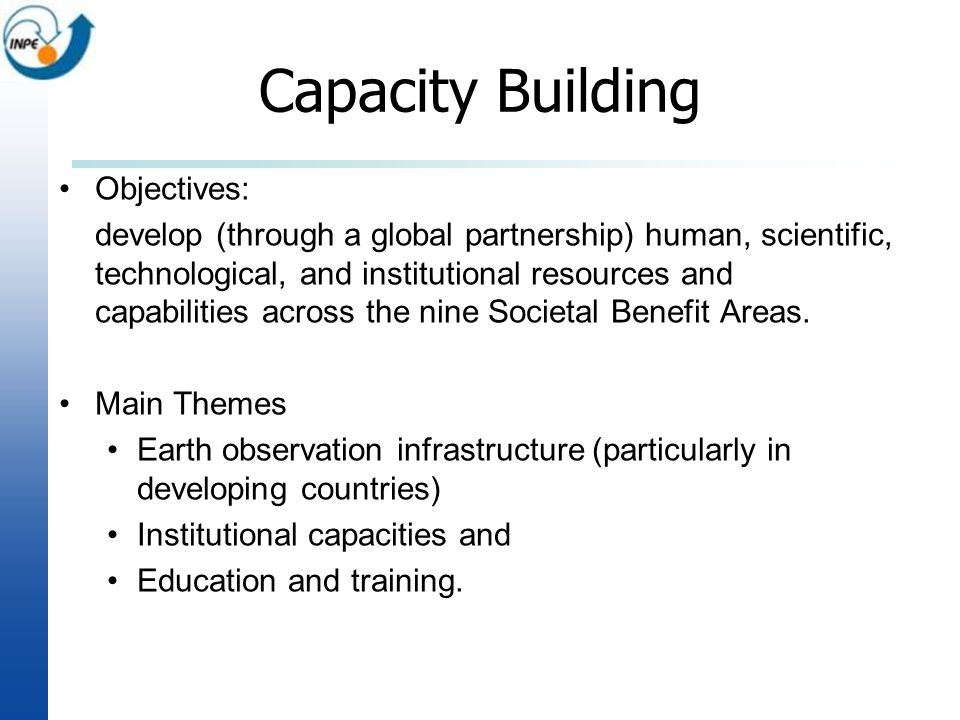 Capacity Building Objectives: