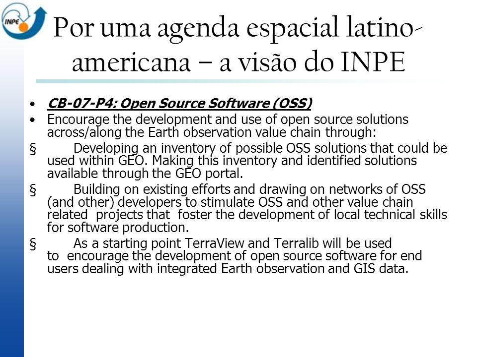 Por uma agenda espacial latino-americana – a visão do INPE