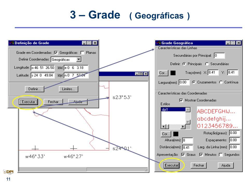 3 – Grade ( Geográficas )