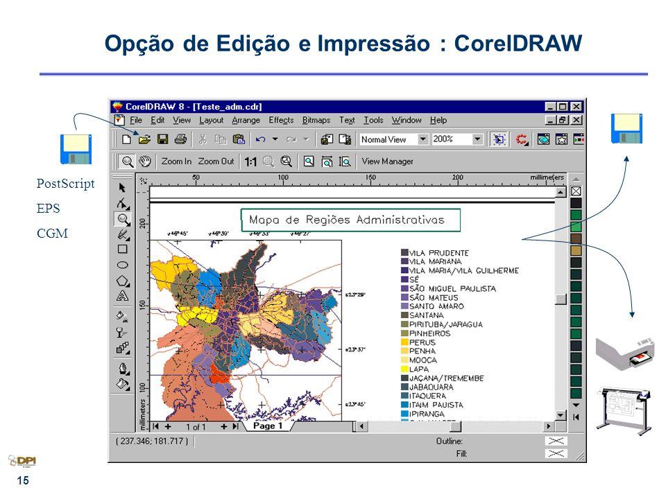 Opção de Edição e Impressão : CorelDRAW