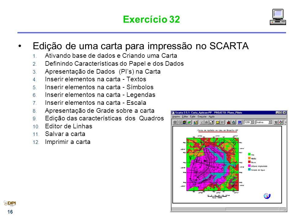 Edição de uma carta para impressão no SCARTA