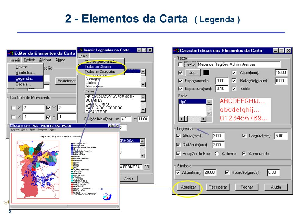 2 - Elementos da Carta ( Legenda )
