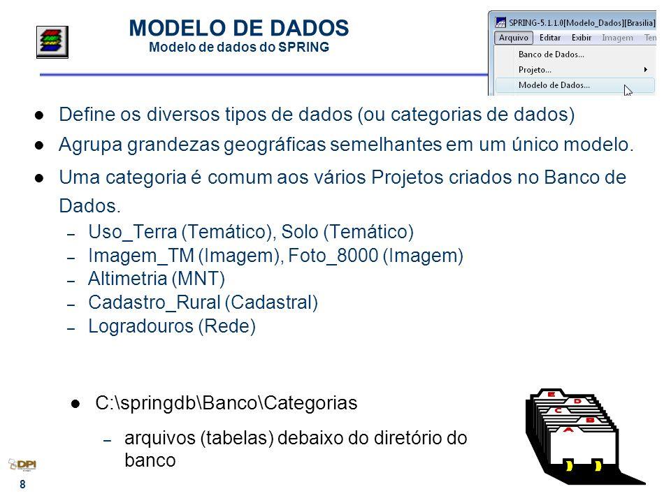 MODELO DE DADOS Modelo de dados do SPRING
