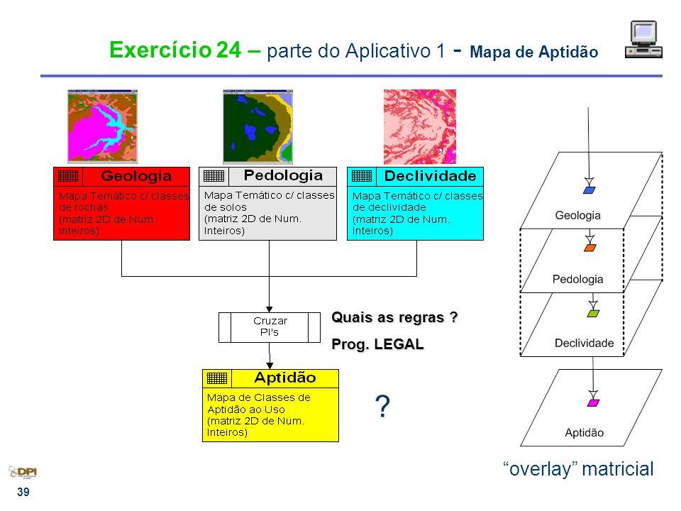 Exercício 24 – parte do Aplicativo 1 - Mapa de Aptidão