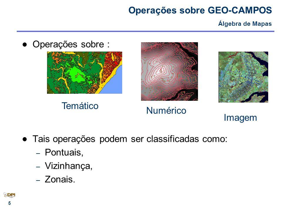 Operações sobre GEO-CAMPOS Álgebra de Mapas