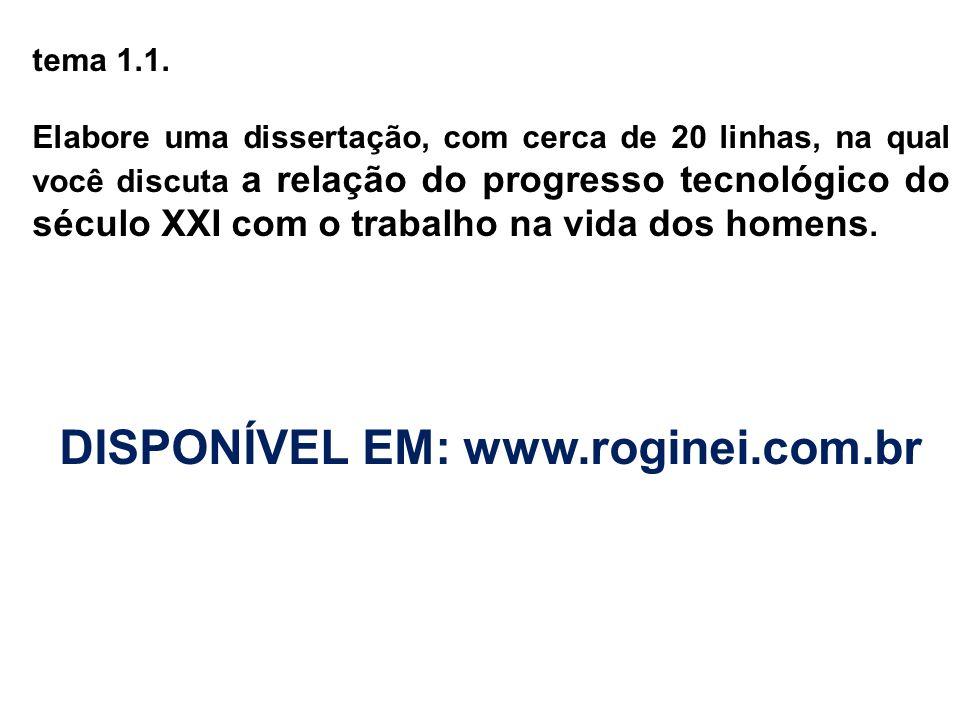 DISPONÍVEL EM: www.roginei.com.br
