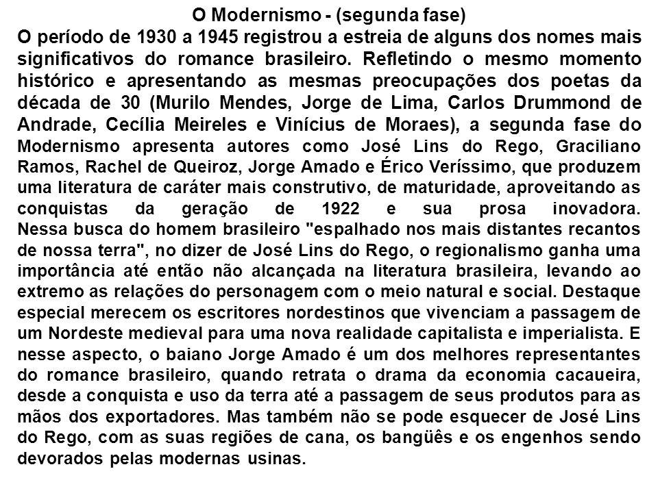 O Modernismo - (segunda fase)